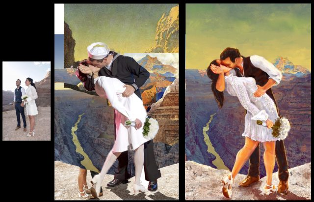 Canyon Wedding process